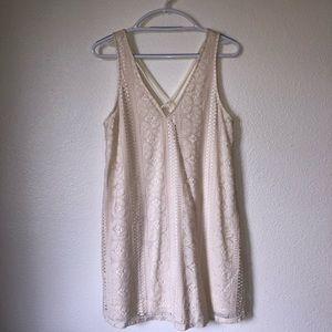 Ivory Lace Sleeveless Boho Sun Dress